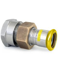 316L Gas Female Barrel Union Brass Nut EPDM Flat Seal