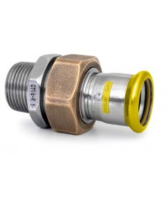 316L Gas Male Barrel Union Brass Nut EPDM Flat Seal