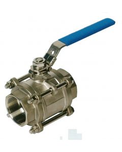 Stainless steel 3-piece ball valve