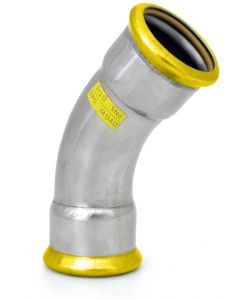 316L Gas Elbow 45°  radius 1.5d